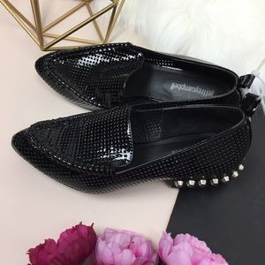 • Jeffrey Campbell black loafers with stud size 7m